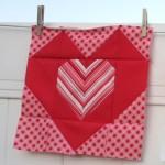 """12"""" Heart Quilt Block"""