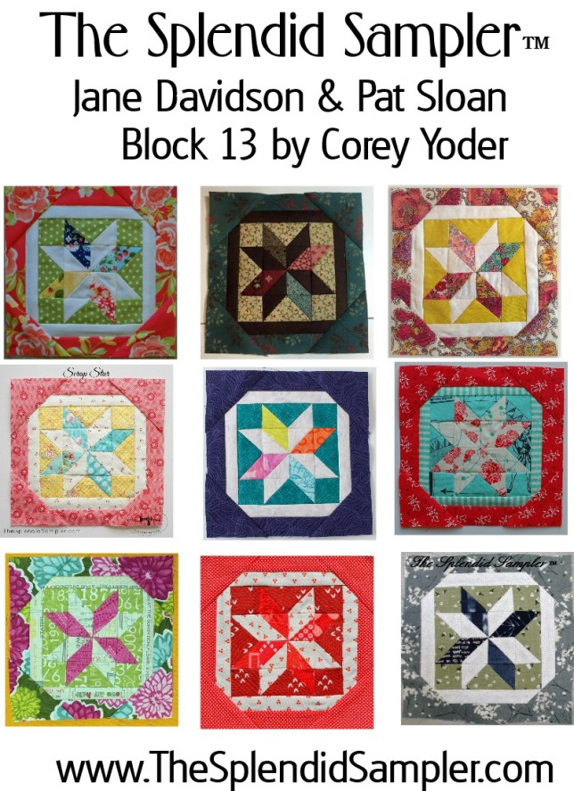 13 Splendid Sampler Corey Yoder Block multi