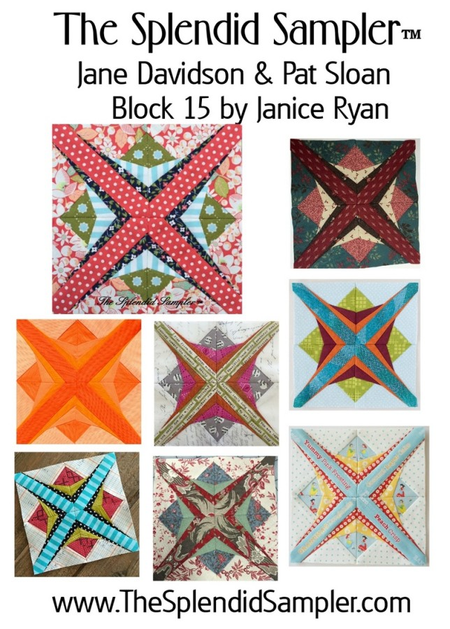 15 Splendid Sampler Jancie Ryan Block