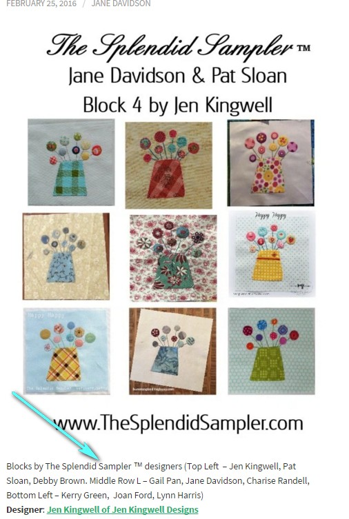 pat sloan splendid sampler blocks