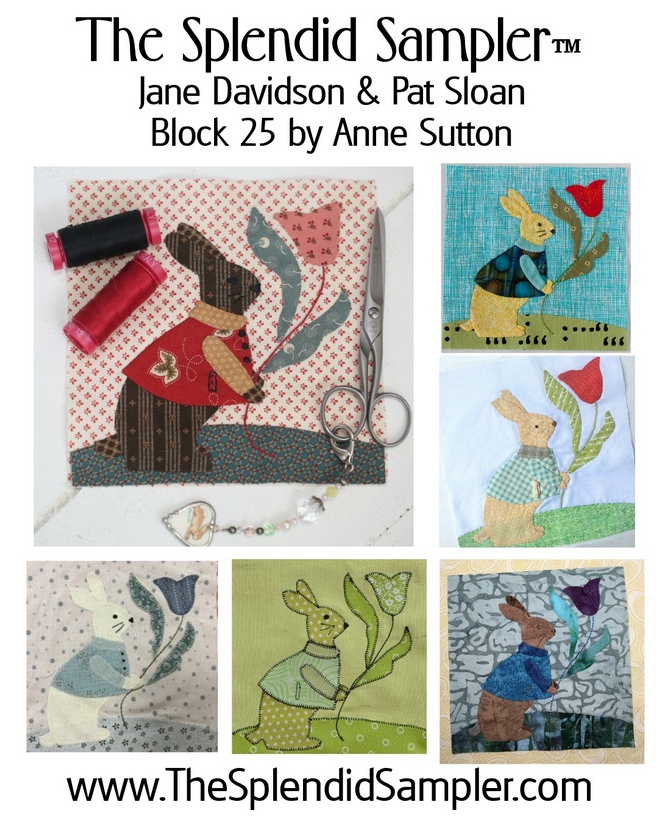25 Splendid Sampler Anne Sutton Block multi