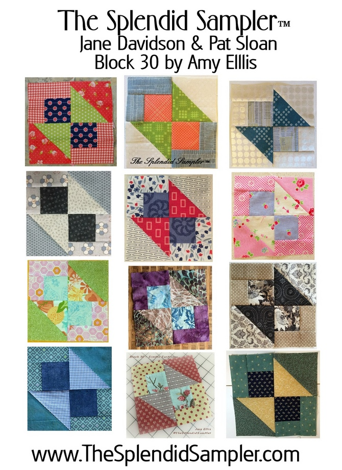 30 Splendid Sampler Amy Ellis Block multi