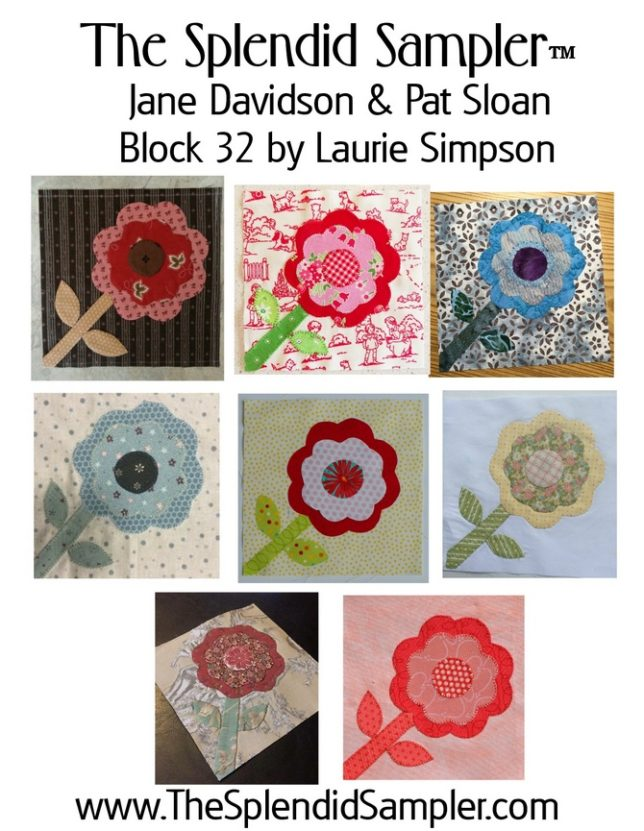 32 Splendid Sampler Laurie Simpson Block multi