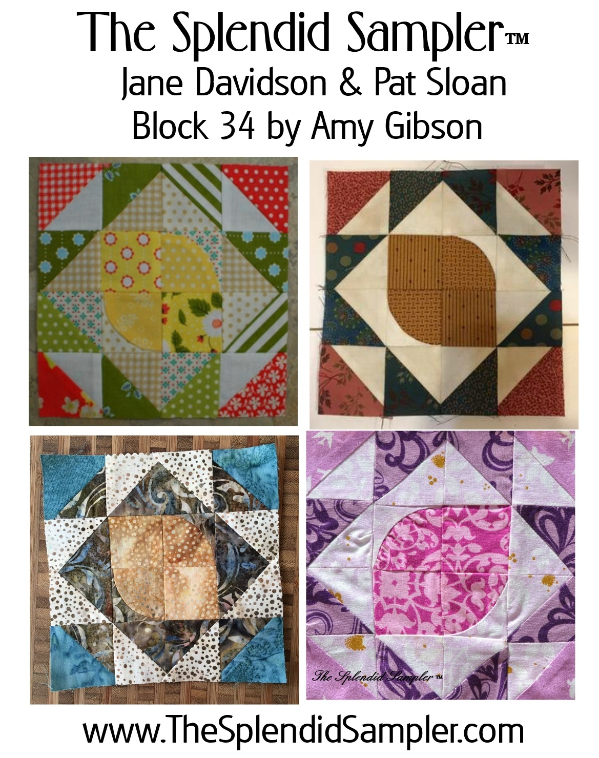 34 Splendid Sampler Amy Gibson Block collage