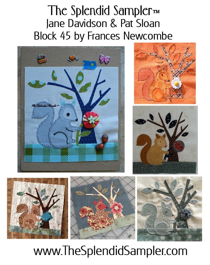 45 Splendid Sampler Frances Newcombe block multi