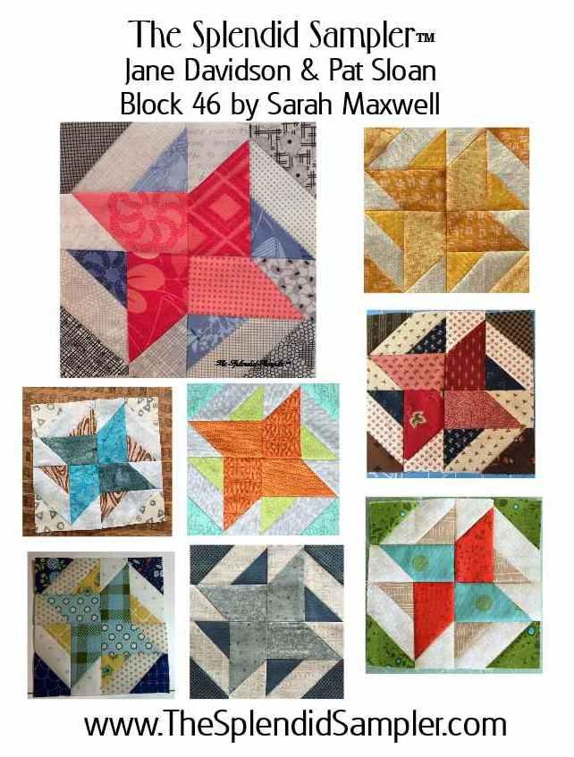 46 Splendid Sampler Sarah Maxwell block multi