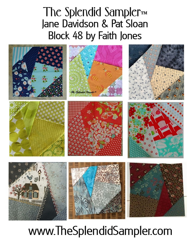 48 Splendid Sampler Faith Jones block multi