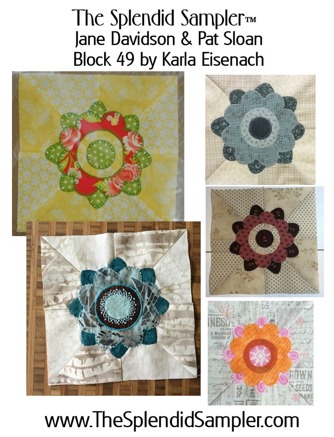 49 Splendid Sampler Karla Eisenach block multi