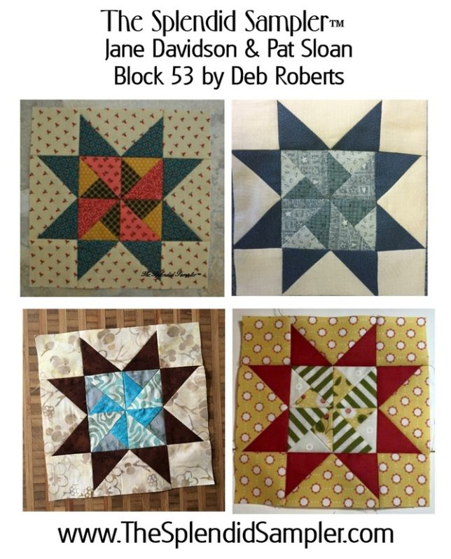 53 Splendid Sampler Deb Roberts block multi