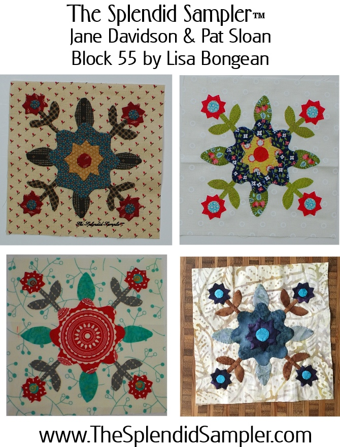 55 Splendid Sampler Lisa Bongean block multi