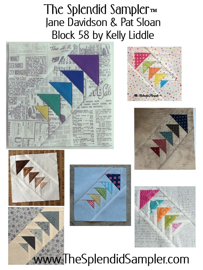 58 Splendid Sampler Kelly Liddle block multi